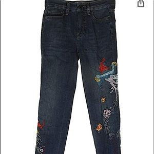 FP Embroidered Skinny Jeans